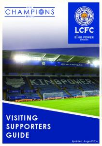 VISITING SUPPORTERS GUIDE