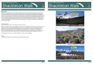 Visitor Management Plan Shackleton Walk. Visitor Management Plan Shackleton Walk