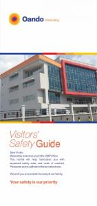 Visitors Safety Guide. Your safety is our priority. Marketing