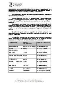 Vista la ordenanza Municipal reguladora de la Venta ambulante y no sedentaria del Ayuntamiento de Calatayud