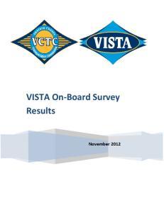 VISTA On-Board Survey Results