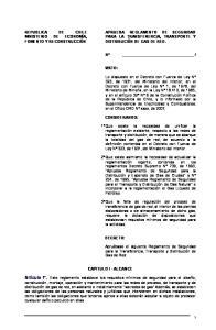 VISTO: CONSIDERANDO: DECRETO: CAPITULO I - ALCANCE