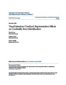 Visual Attention Overload: Representation Effects on Cardinality Error Identification