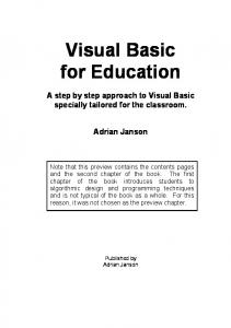 Visual Basic for Education