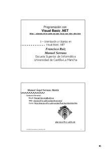 Visual Basic.NET. Francisco Ruiz Manuel Serrano