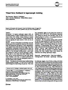 Visual force feedback in laparoscopic training