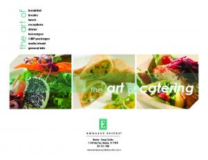 visual general info the art of the art of catering