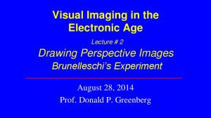 Visual Imaging in the Electronic Age. Drawing Perspective Images