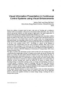 Visual Information Presentation in Continuous Control Systems using Visual Enhancements