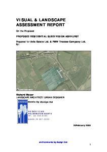 VISUAL & LANDSCAPE ASSESSMENT REPORT