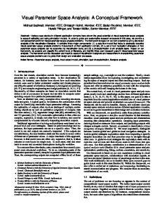 Visual Parameter Space Analysis: A Conceptual Framework