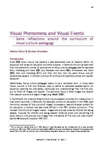 Visual Phenomena and Visual Events