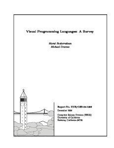Visual Programming Languages: A Survey