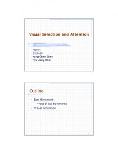 Visual Selection and Attention