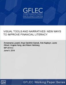 VISUAL TOOLS AND NARRATIVES: NEW WAYS TO IMPROVE FINANCIAL LITERACY