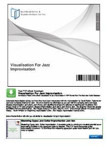 Visualisation For Jazz Improvisation