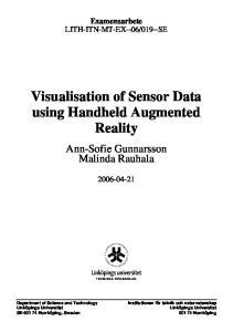 Visualisation of Sensor Data using Handheld Augmented Reality