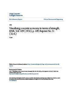 Visualizing concrete economy in terms of strength, ENR, Vol. 109 (1932), p. 109, Reprint No. 31 (32-6.)