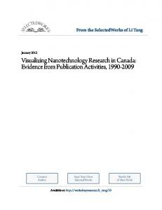 Visualizing Nanotechnology Research in Canada: Evidence from Publication Activities,
