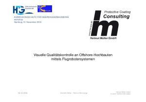 Visuelle Qualitätskontrolle an Offshore-Hochbauten mittels Flugrobotersystemen