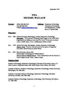 VITA MICHAEL WALLACE