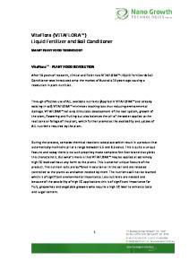 VitaFlora (VITAFLORA ) Liquid Fertilizer and Soil Conditioner