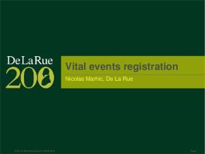Vital events registration