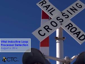 Vital Inductive Loop Processor Detection August 6, 2014