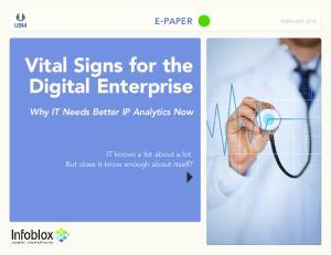 Vital Signs for the Digital Enterprise