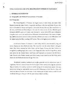 VITAL STATISTICS AND CIVIL REGISTRATION SYSTEMS IN TANZANIAN