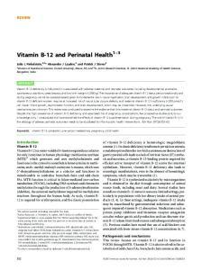 Vitamin B-12 and Perinatal Health 1 3