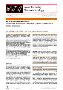 Vitamin B6 and colorectal cancer: Current evidence and future directions