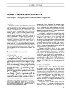 Vitamin D and Autoimmune Disease