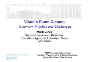 Vitamin D and Cancer: