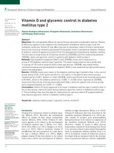Vitamin D and glycemic control in diabetes mellitus type 2