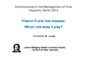 Vitamin D and liver disease: Which role does it play?