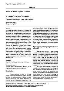 Vitamin D and Thyroid Diseases