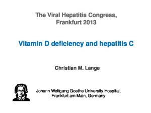 Vitamin D deficiency and hepatitis C