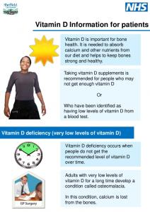 Vitamin D Information for patients
