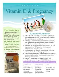 Vitamin D & Pregnancy