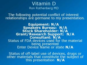 Vitamin D Ron Rothenberg MD