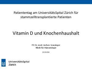 Vitamin D und Knochenhaushalt