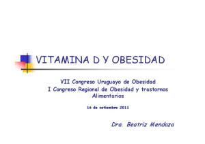 VITAMINA D Y OBESIDAD