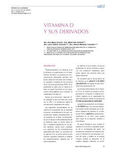 VITAMINA D Y SUS DERIVADOS