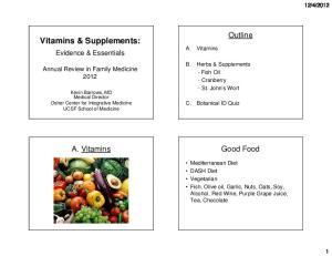 Vitamins & Supplements: