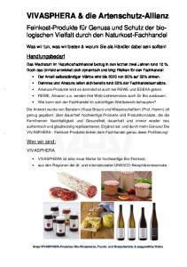 VIVASPHERA & die Artenschutz-Allianz
