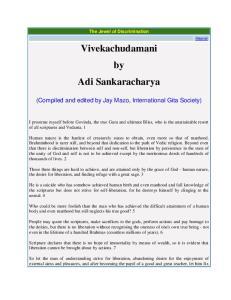 Vivekachudamani by Adi Sankaracharya