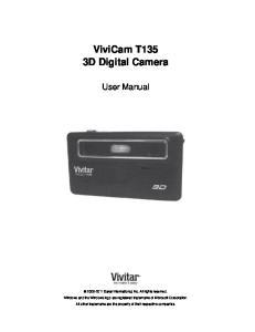 ViviCam T135 3D Digital Camera