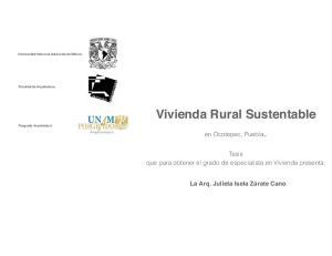 Vivienda Rural Sustentable Posgrado Arquitectura