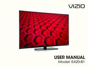 VIZIO. user manual Model: E420-B1
